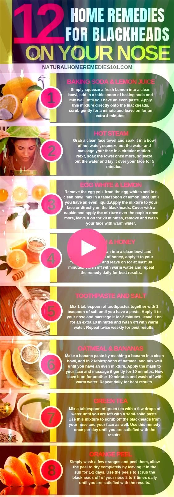 rid of Blackheads on the nose can be really frustrating for most women but dont worry below are 12 effective home remedies for blackheads on nose to help you clear yours...