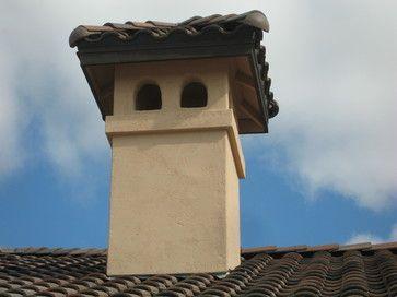 Tuscan fireplace chimney - Mediterranean - exterior - sacramento ...