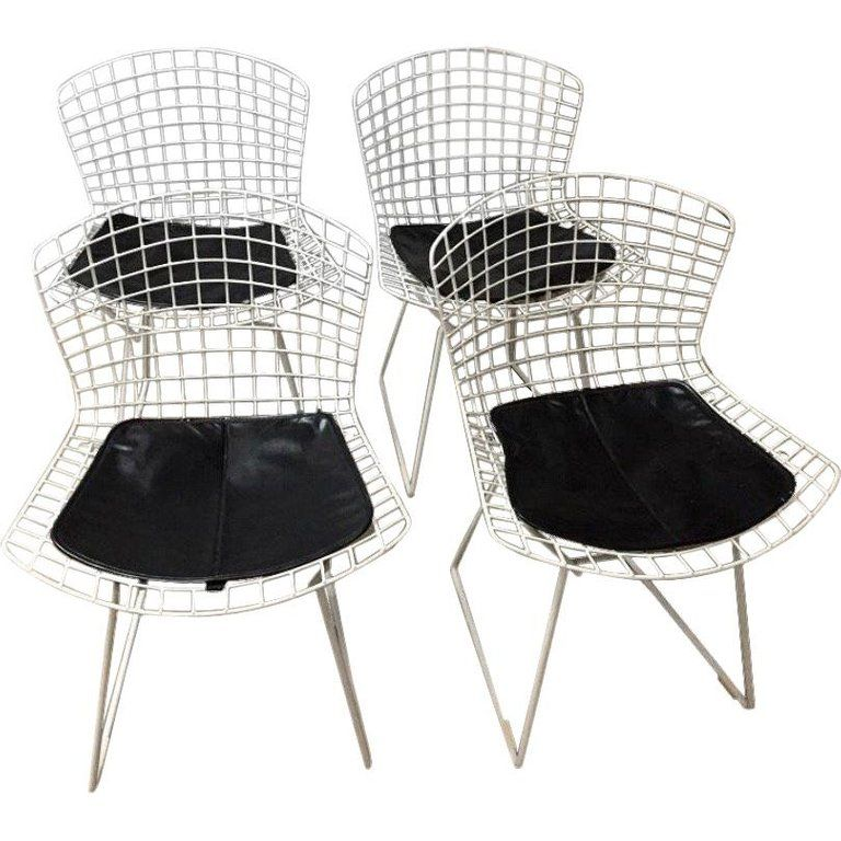 Mid Century Modern Knoll Dining Chairs Set Of 4 Vintage Office