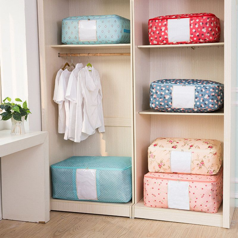 Oxford Clothes Quilts Storage Bags Folding Organizer Bags Washable