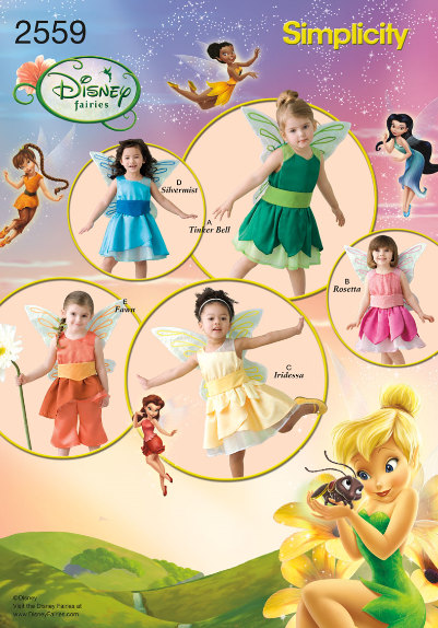 Simplicity sewing pattern 2559 Disney Fairy Costumes for Toddlers Tinker Bell Silvermist Rosetta  sc 1 st  Pinterest & Simplicity sewing pattern 2559 Disney Fairy Costumes for Toddlers ...