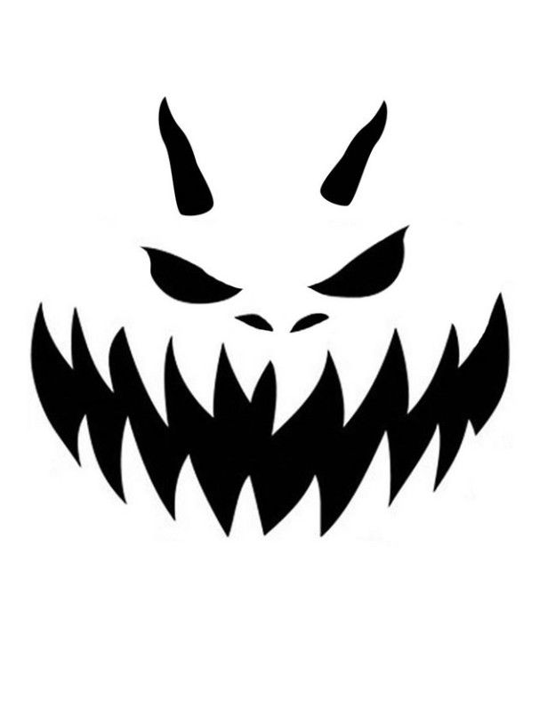 Awesome and nice printable pumpkin carving stencil scary
