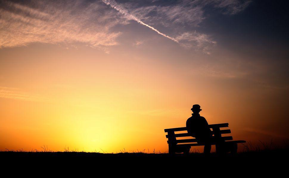 Alone Man Hd Wallpaper Sunset Wallpaper Full Hd Wallpaper Sunset Silhouette