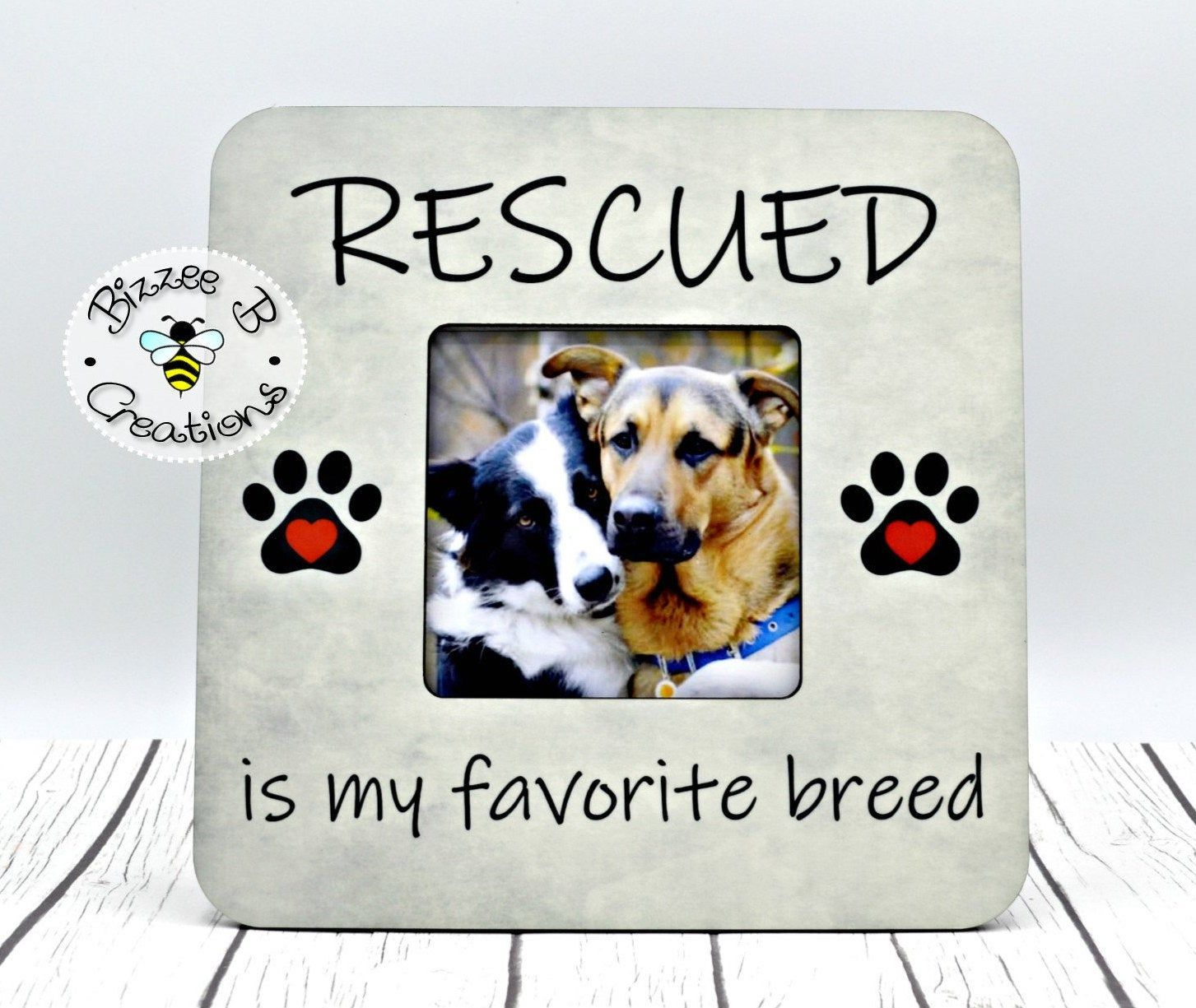 Rescue Dog Owner Gift Dog Rescue Picture Frame Pet Adoption Gift