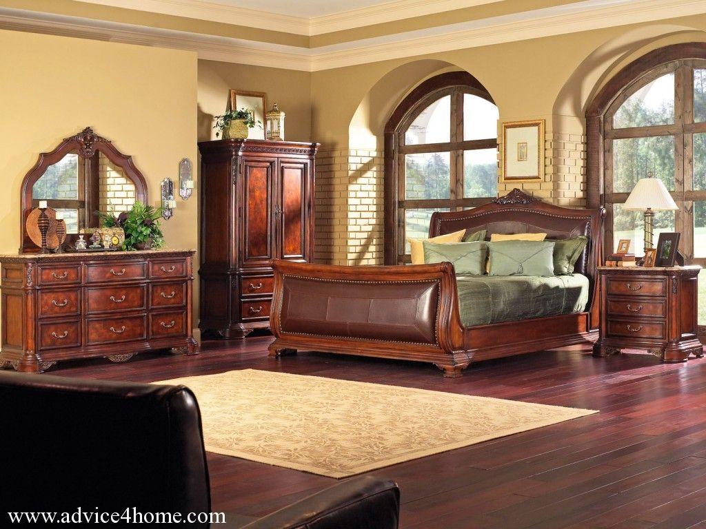 Traditional Furniture Rustic Bedroom Master bedroom set