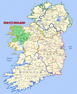 Map Of Ireland Mayo.Mayo Ireland Map Favorite Places Spaces In 2019 County Mayo