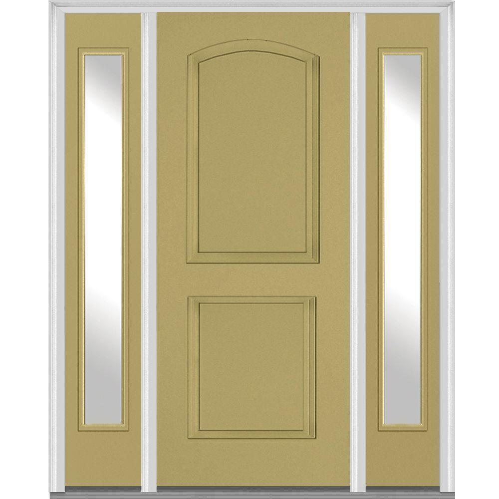 Mmi Door 60 In X 80 In Left Hand Inswing 2 Panel Arch Painted
