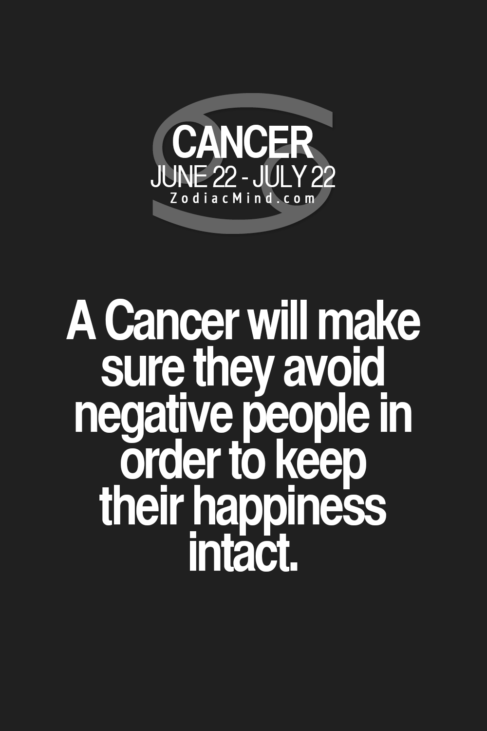 Cancer Zodiac Sign ♋ avoid negative people