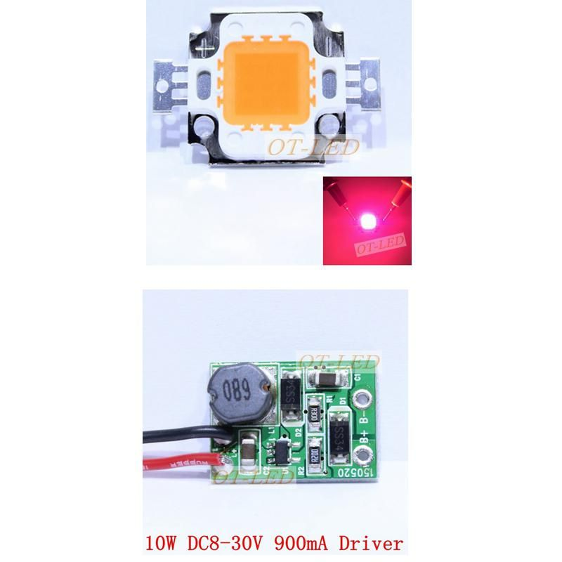 10w Constant Current Led Driver 12v 10w Full Spectrum Led Grow Chip 380 840nm Led Drivers Led Constant Current