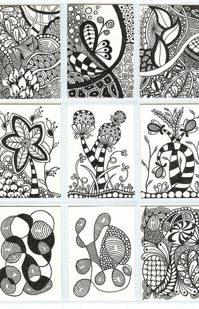 beautiful doodles! | Drawing-Doodles-Zentangle | Pinterest ...