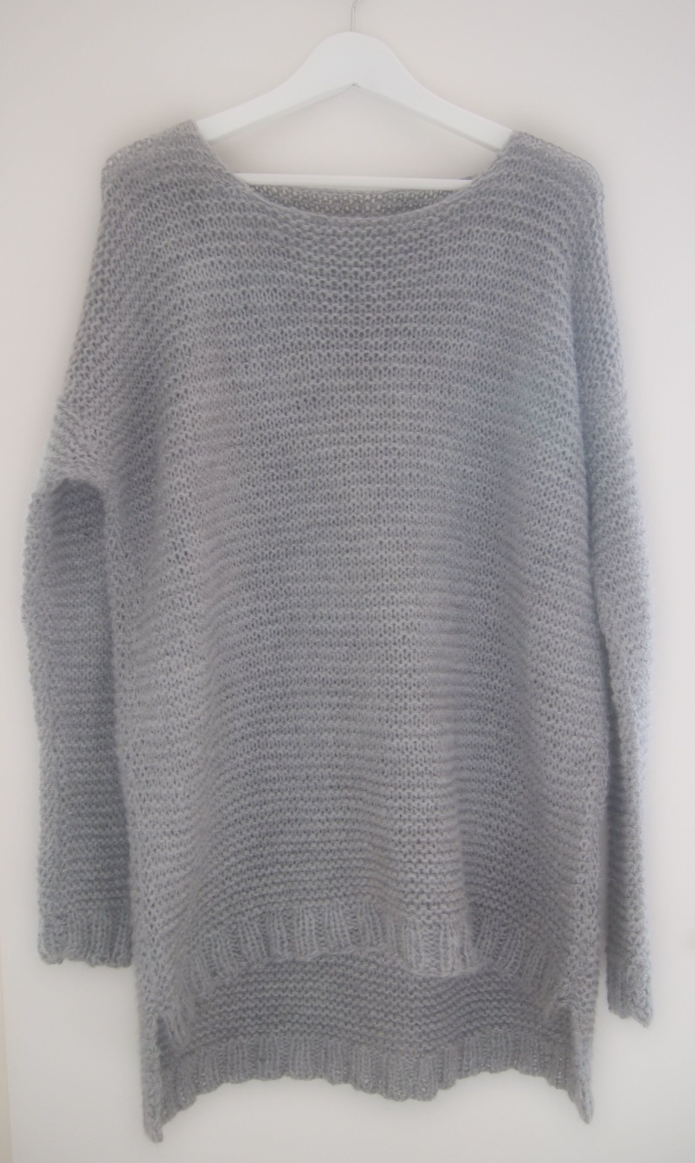 Dark Gray Hand Knit Sweater, Long Sleeved V Neck Pullover, Slouchy Sweater, Unisex Knitwear, Hippie Chic Boho Gifts, Casual Knitwear
