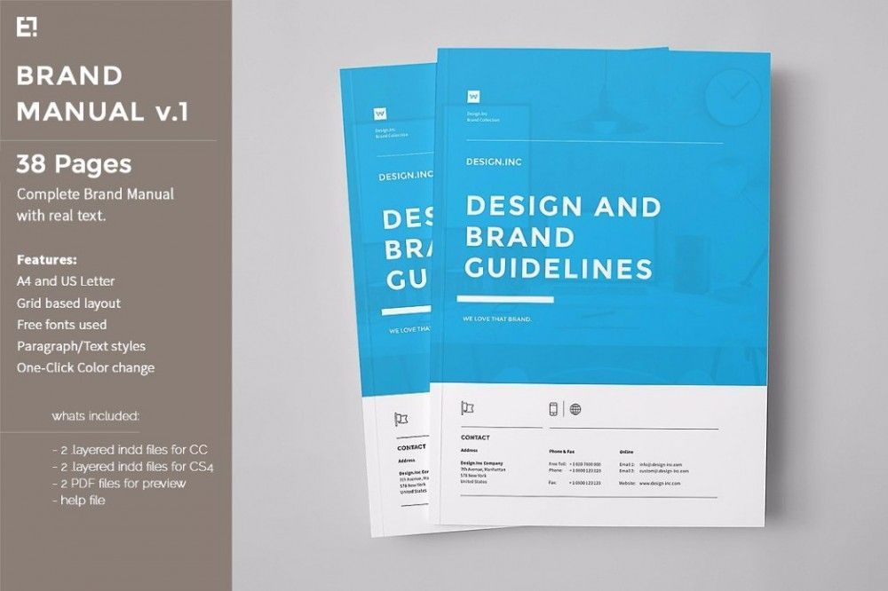 25 Professional Brand Guideline Templates Brand Manual
