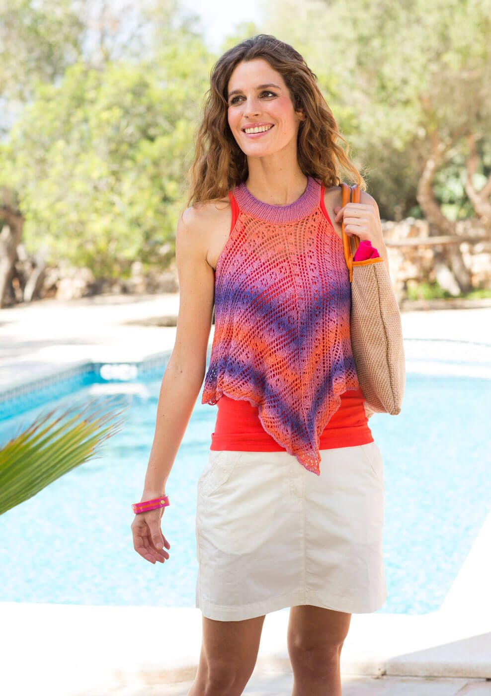 Strick-Top im Diagonalmuster | Pinterest | Strickanleitungen, Strick ...