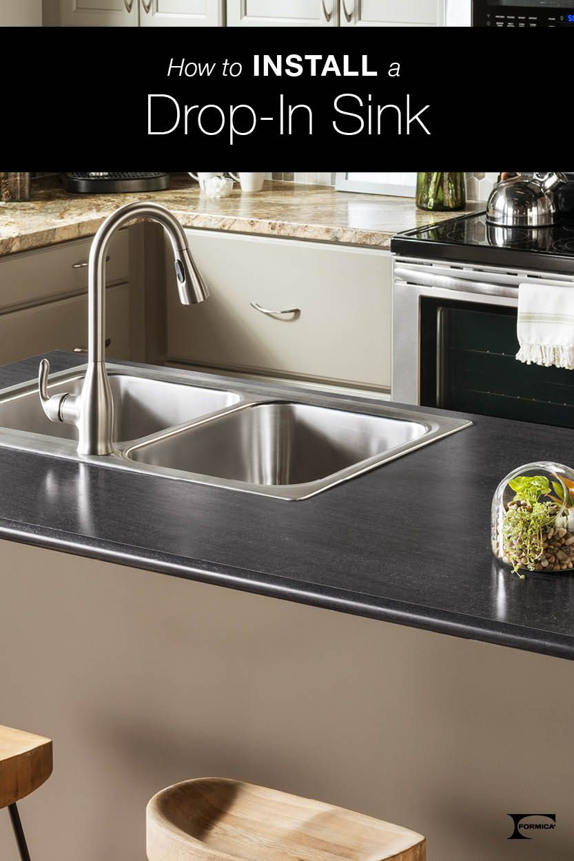 Trying To Install A Drop In Sink It S Easier Than You Might Think
