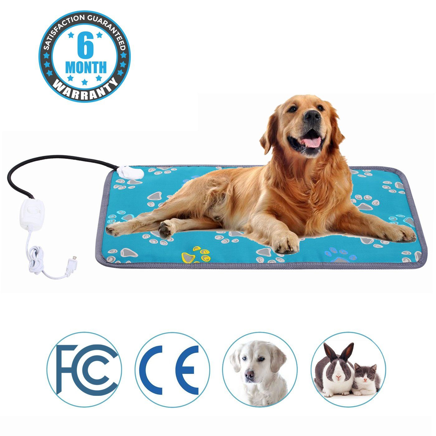 Mazort Pet Heating Pad Cats and Dogs Safety Electric