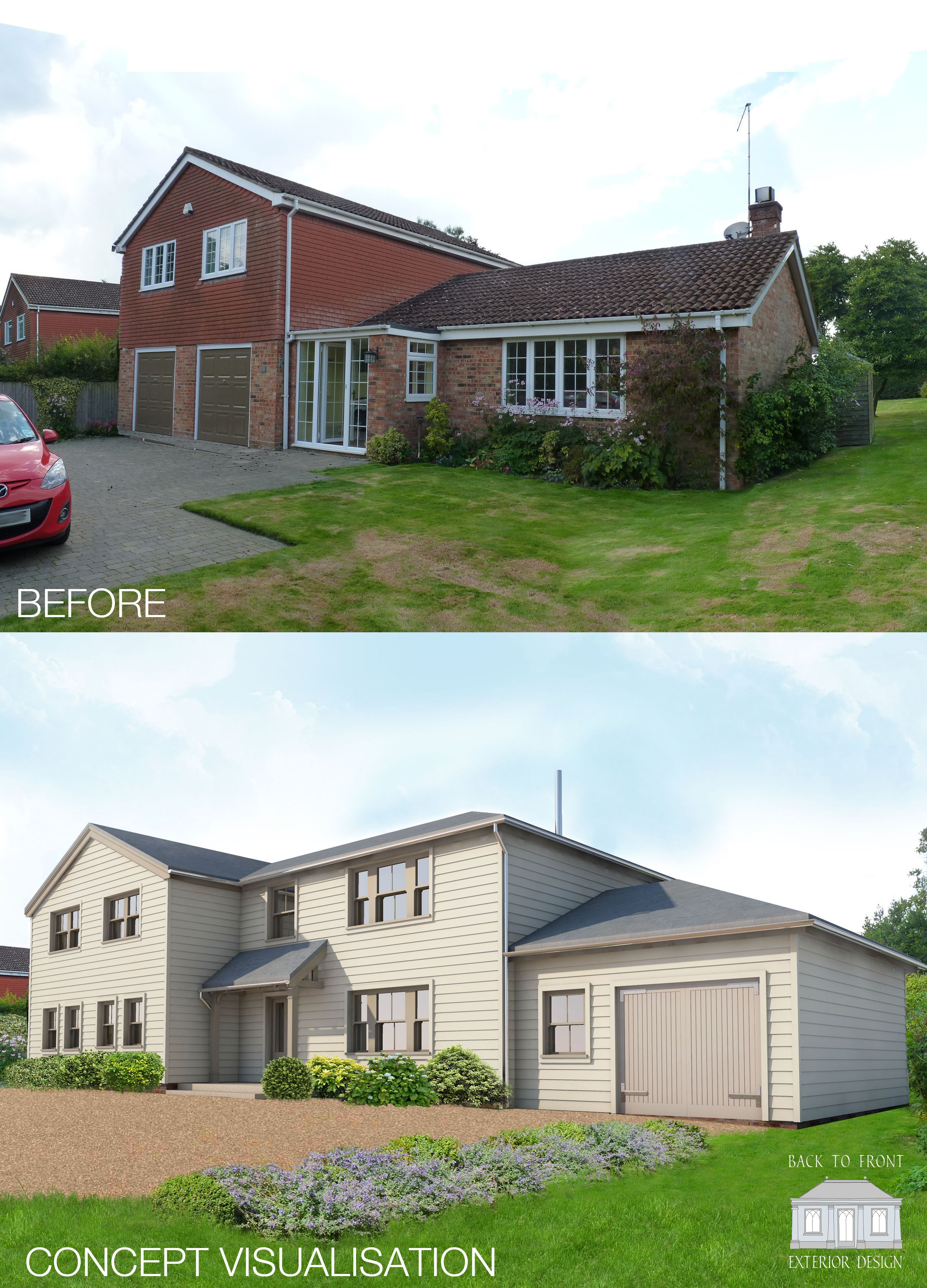Exterior Remodelling scheme in Hampshire by Back