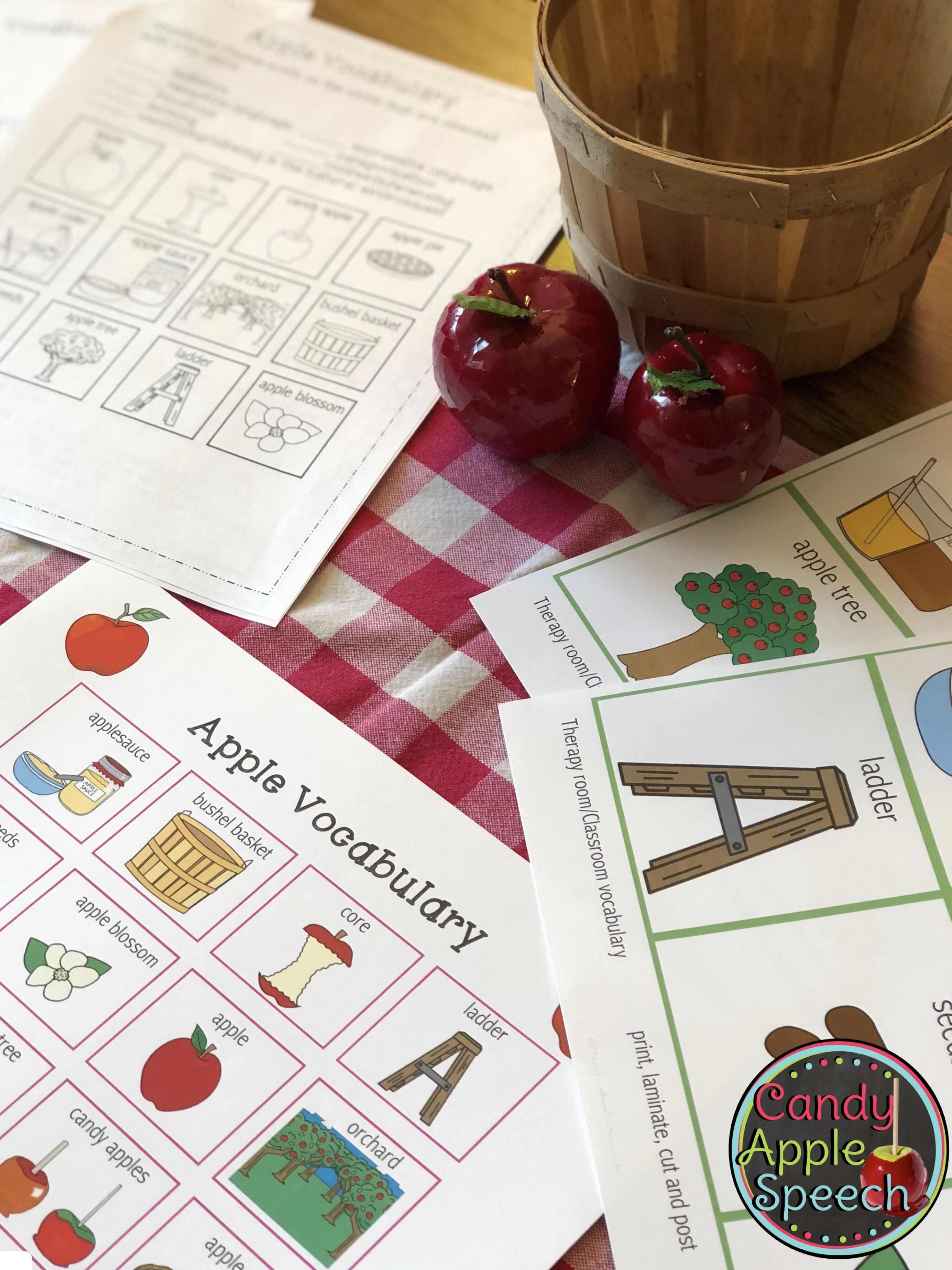 Apple Vocabulary Worksheets Pack With Images
