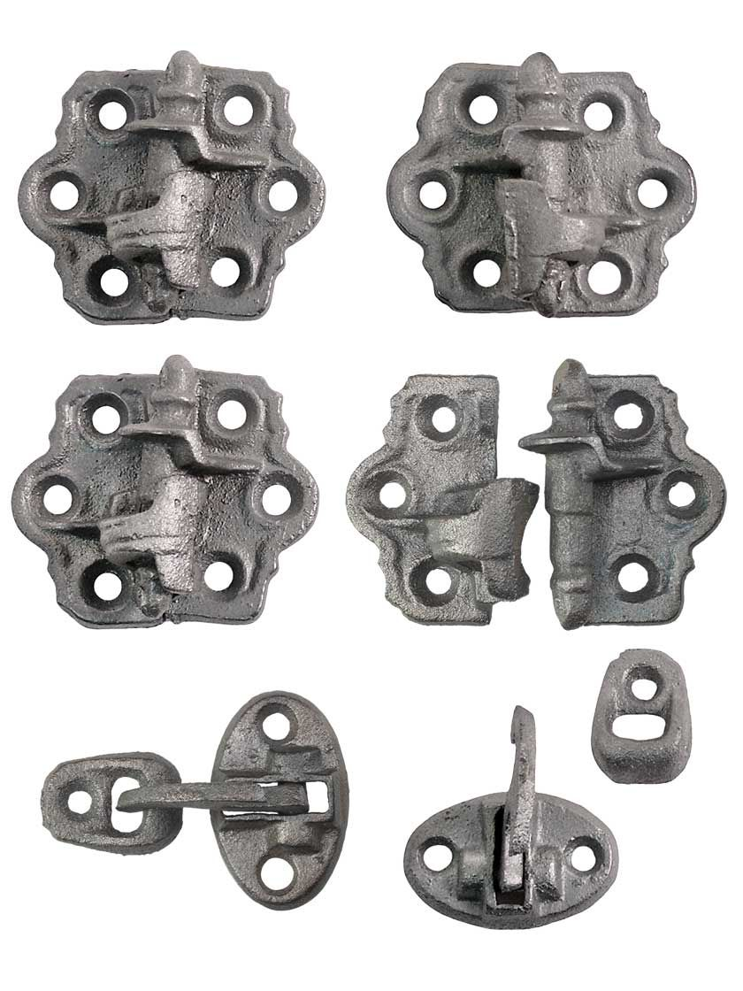 Set Of Clarks Tip Cast Iron Shutter Hinges With 1 1 4 Inch Throw In 2020 Shutter Hinges Window Treatment Hardware Antique Hardware