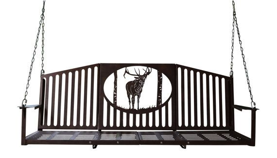 Elk Theme Wildlife 5ft Metal Porch Swing by MadMetalWorks on Etsy ...