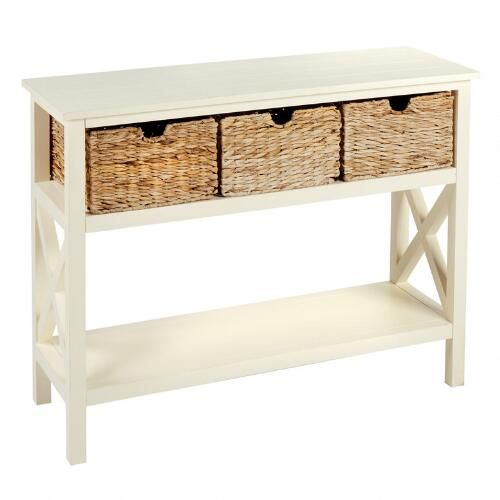 Exceptionnel One Of My Favorite Discoveries At ChristmasTreeShops.com: Cream Manor 3  Basket Plank Top Console Table