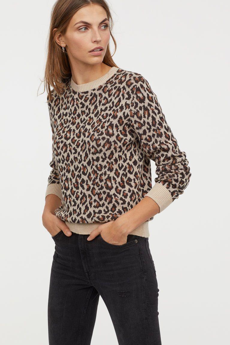 9fd25229446f Jacquard-knit jumper in 2019 | Seasonal .. total look | Beige ...