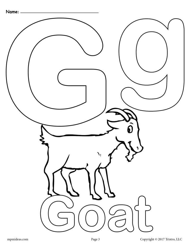 Letter G Alphabet Coloring Pages 3 Printable Versions Alphabet Coloring Pages Alphabet Coloring Letter A Coloring Pages
