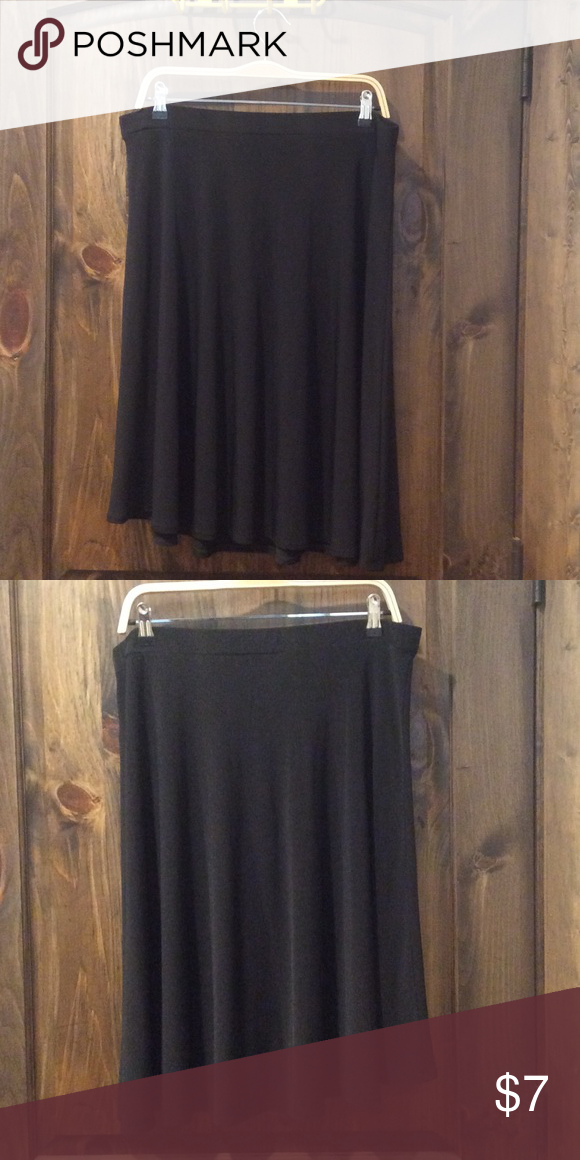 George XL Black Skirt Basic Black Skirt, very soft Polyester/spandex blend George Skirts Midi
