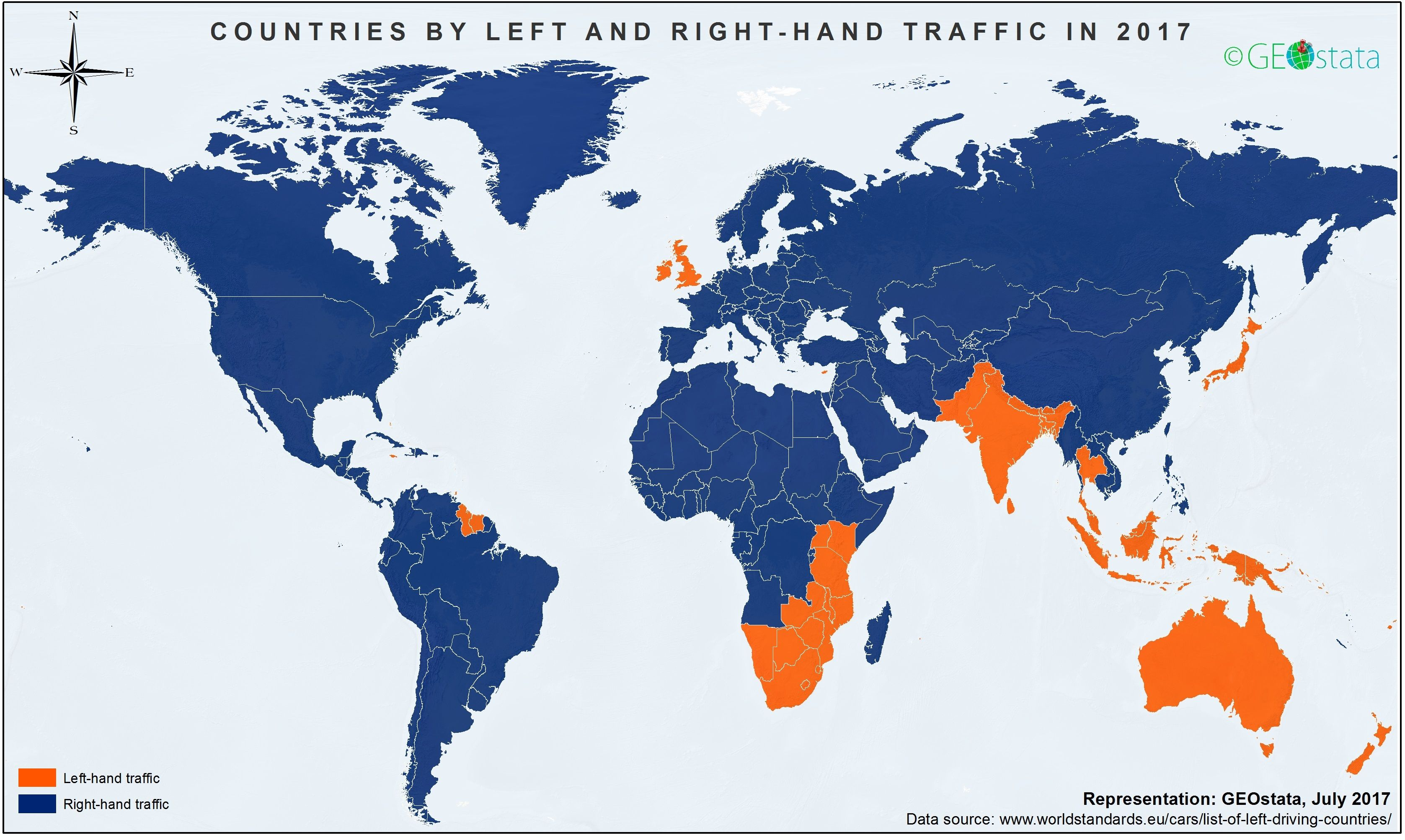 Left and right-hand traffic around the world (2017) | Left ... World Map Traffic on world airspace map, world drought map, world terrain map, world wind map, world weather map, world radar map, world land use map, world transport map, world pollution map, world drug map, world seismic map, world rail map, world gravity map, world railway map, world crime map, world flight map, world climate map, world heat map, world snowfall map, world road map,