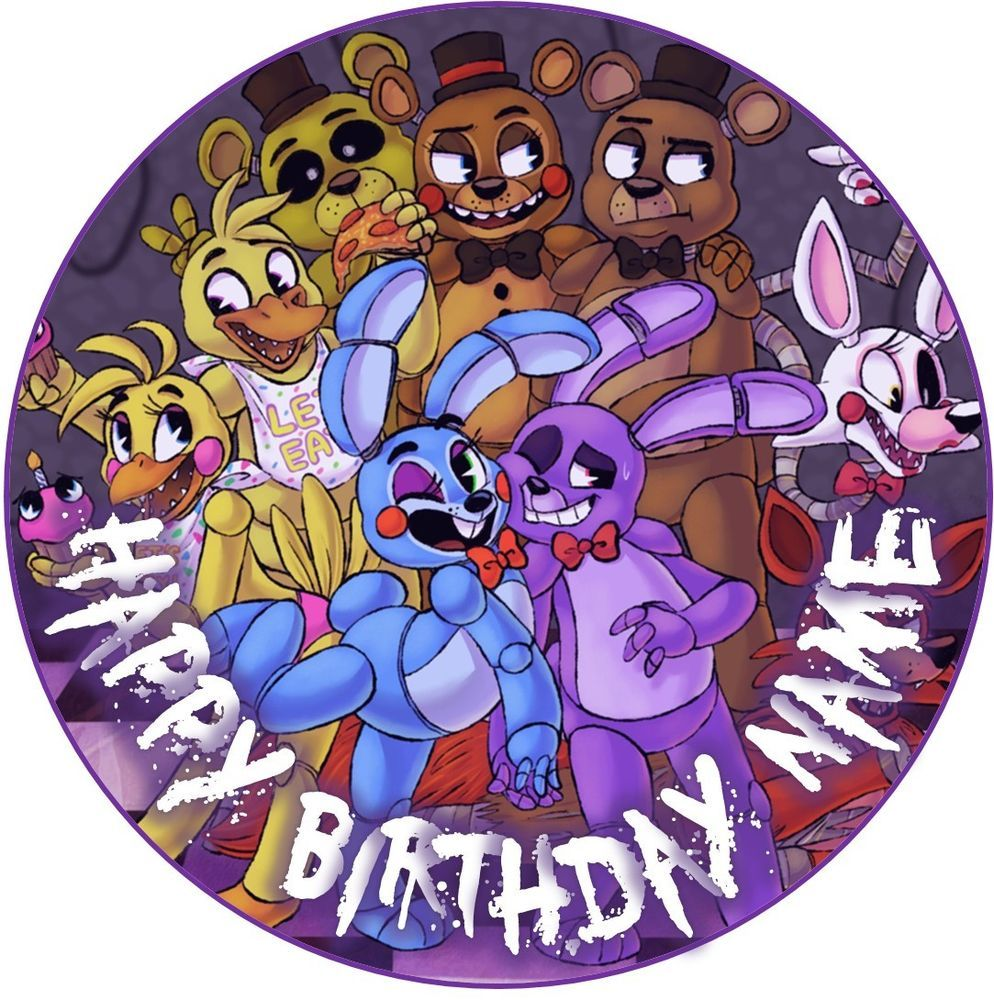 Details About Edible Fnaf Five Nights At Freddy S Cake