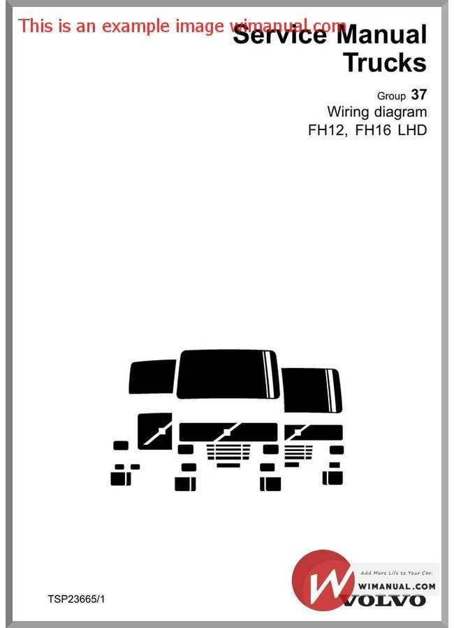 Volvo Truck Service Manual Fh12 Fh16 Lhd Wiring Diagram