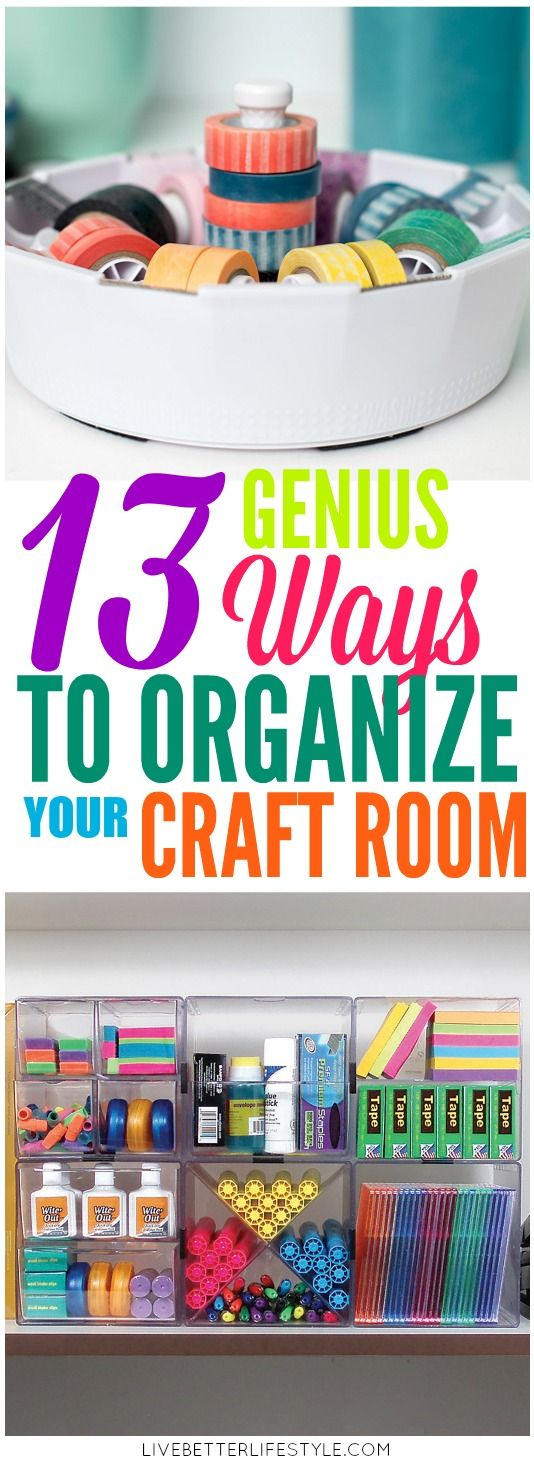 13 Life-Changing Craft Room Organization Ideas images