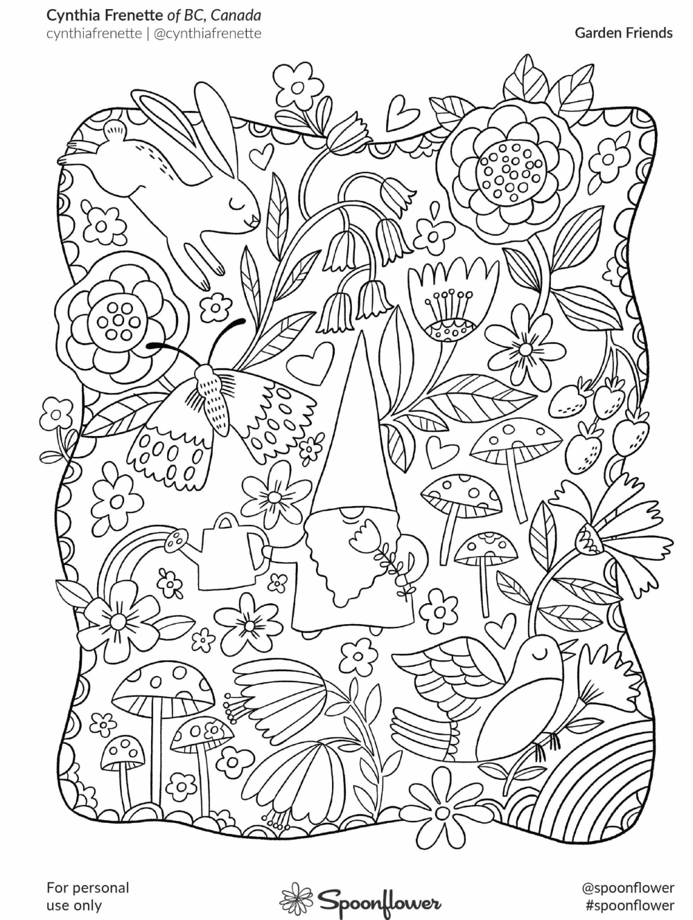 The Spoonflower Community Coloring Book Spoonflower Blog Charm Pack Quilts Hello Kitty Tattoos Coloring Books