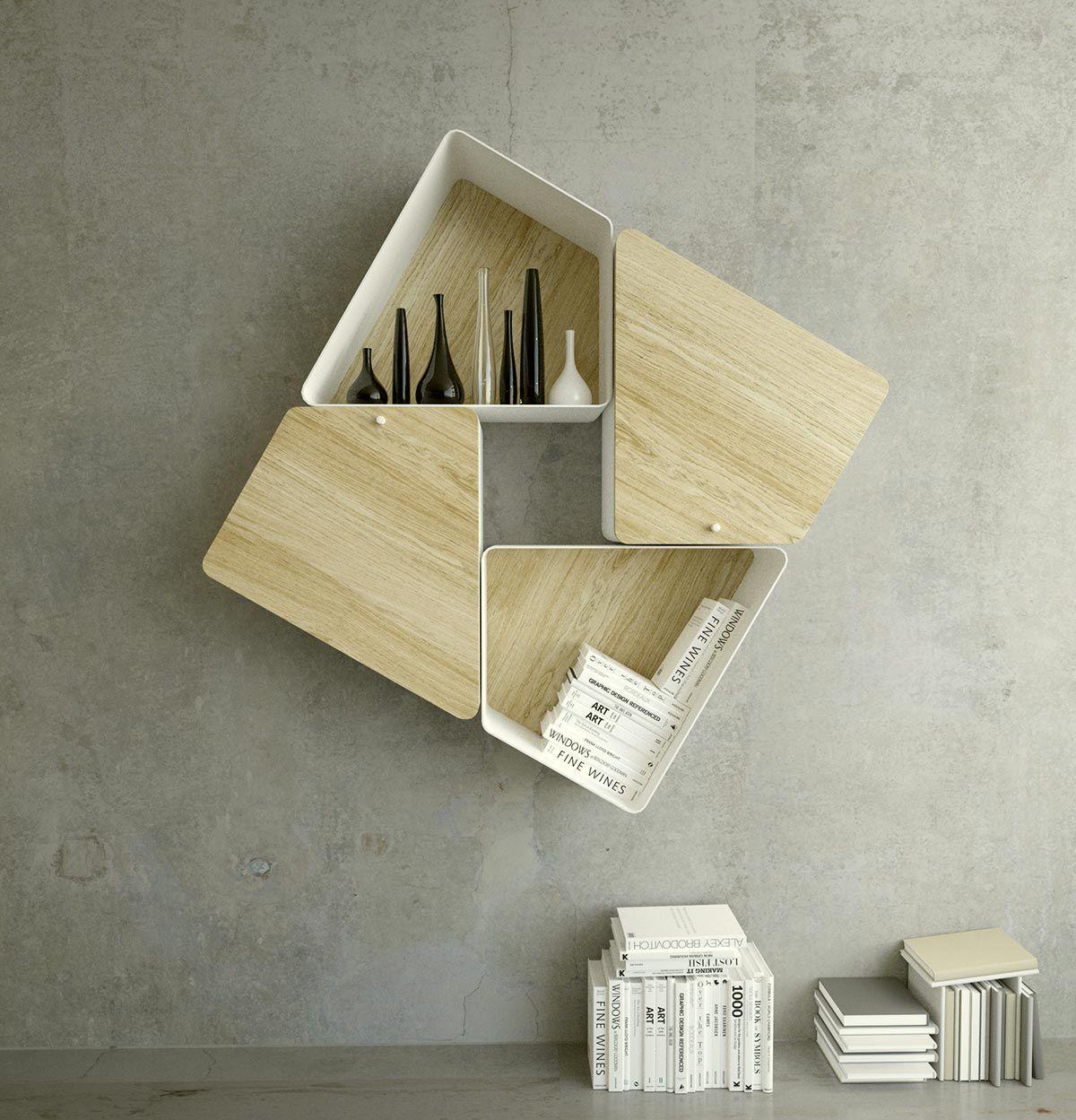 Estanteria libreria modular moderna kambiam trap cocinas for Muebles para libros modernos