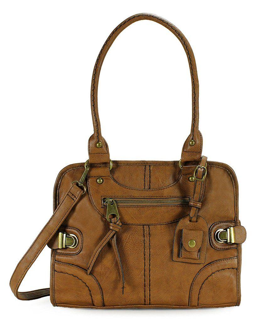 8c26c21d3a3 Women Tote Handbag Vintage Leather Shoulder Messenger Purse Satchel ...