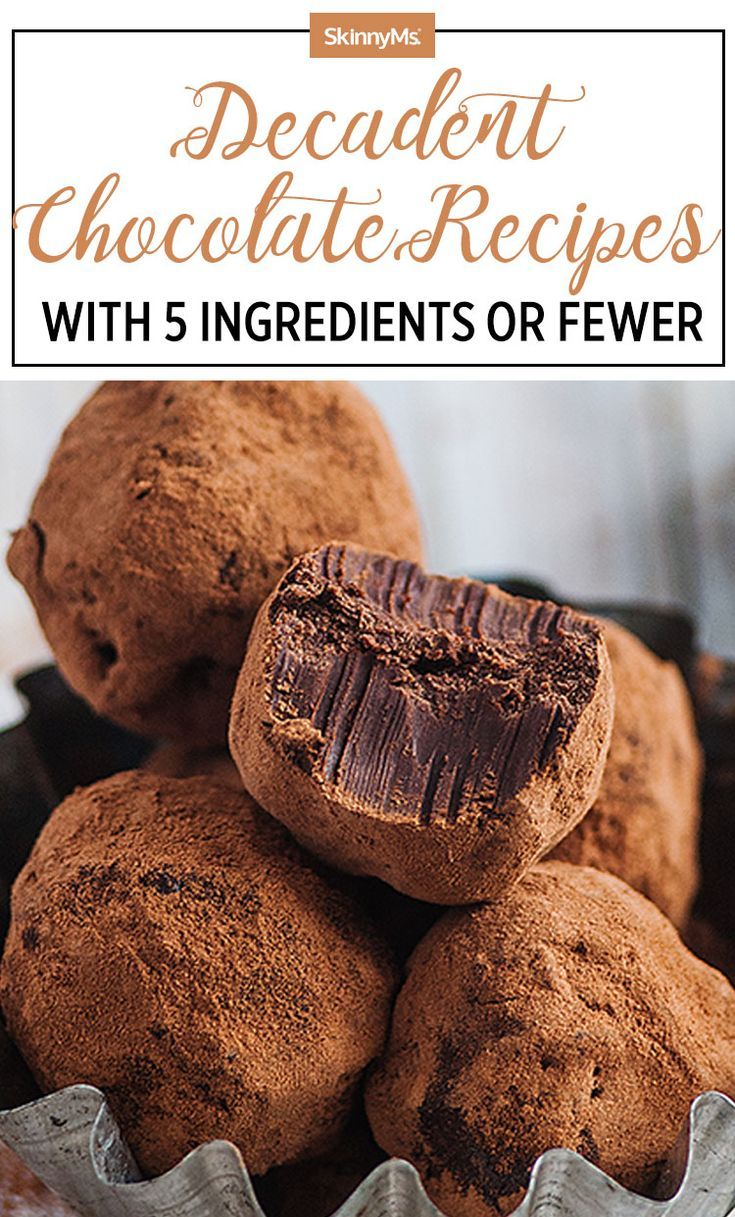 Decadent Chocolate Recipes With 5 Ingredients or Fewer
