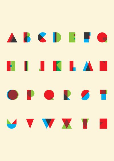 Rgb Type These Deceptively Simple Letters Are By London Designer