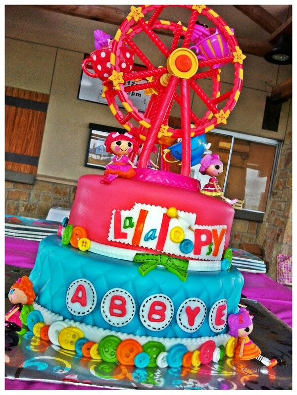 I Love This Lalaloopsy Birthday Cake Tons Of Fondant Buttons And