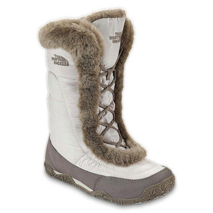 The North Face Nuptse Fur IV Boot - Womens Shiny Moonlight Ivory/Classic  Khaki,