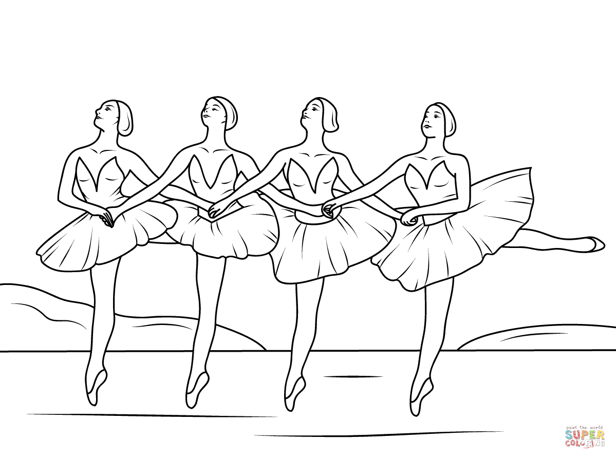 Coloring pages ballerina - Swan Lake Ballet Coloring Page From Ballet Category Select From 25887 Printable Crafts Of Cartoons Nature Animals Bible And Many More