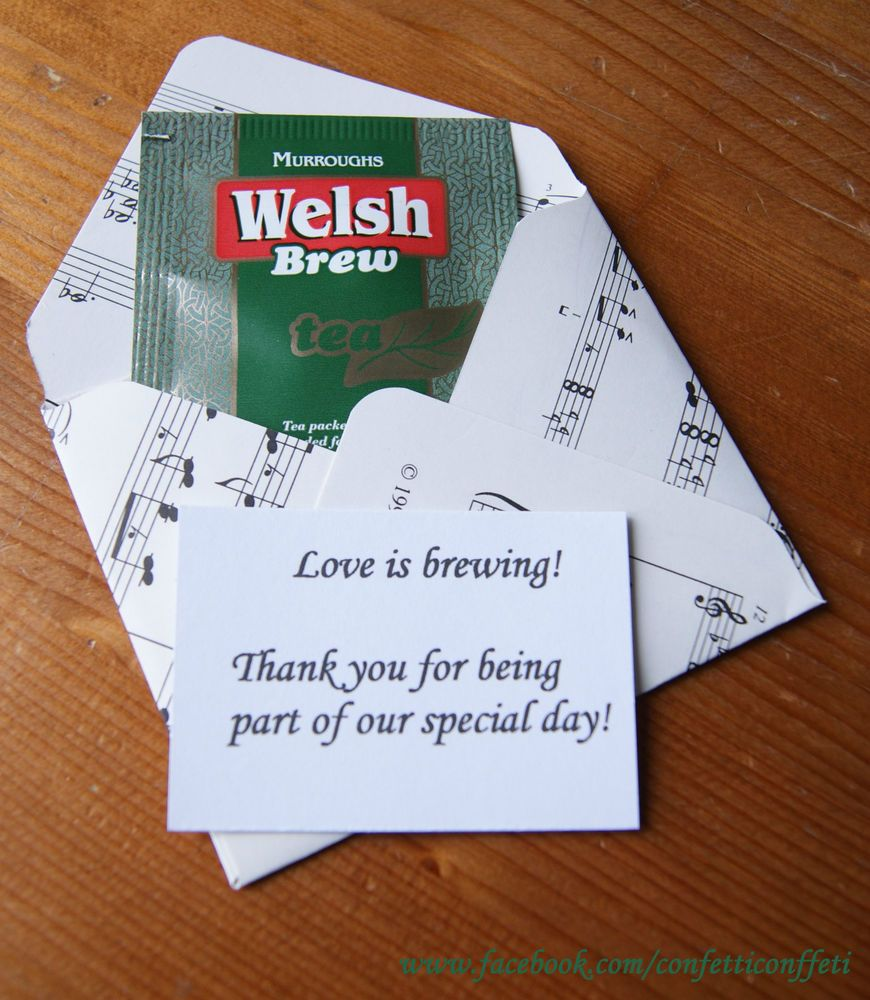 Ordered these Welsh Brew Tea Bags to put into burlap bags with pink ...