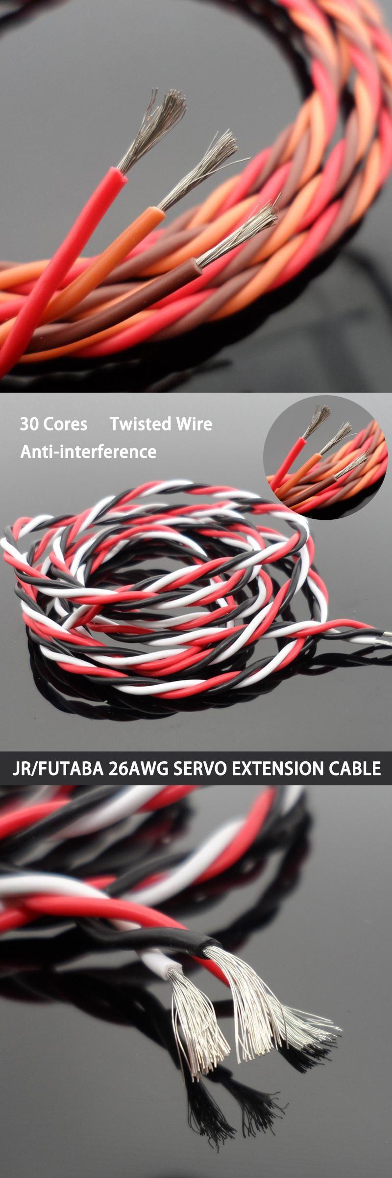 10 Meters DIY JR/Futaba Color 26# 26AWG 30 Cores Servo Extension ...