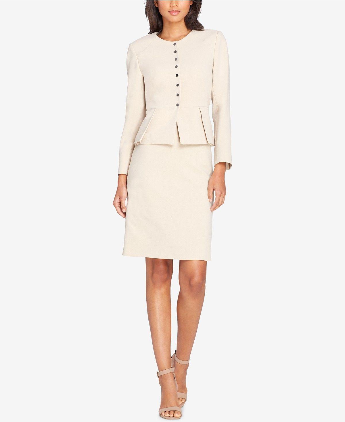 a3bc471b381 Tahari ASL Pleated Peplum Skirt Suit - Wear to Work - Women - Macy s ...