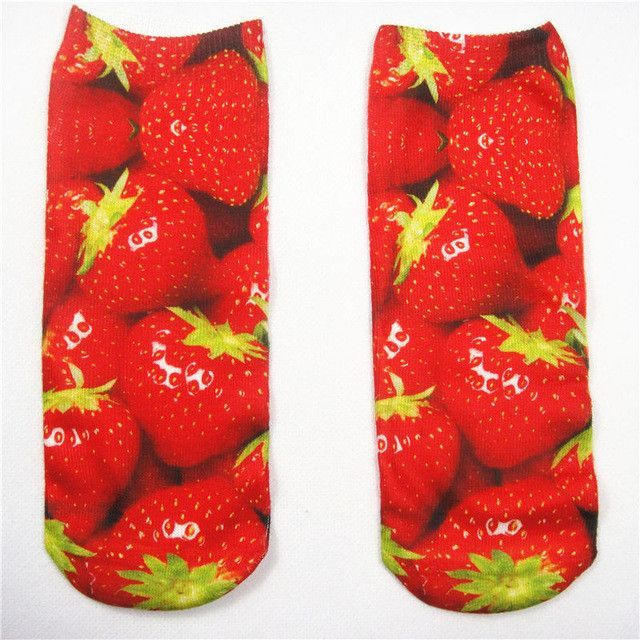 McDonald Fast food Pizza Delicious Graphic French Fries Ice Cream 3D Printed Women Men Girls Low Cut Ankle Socks Cotton Hosiery