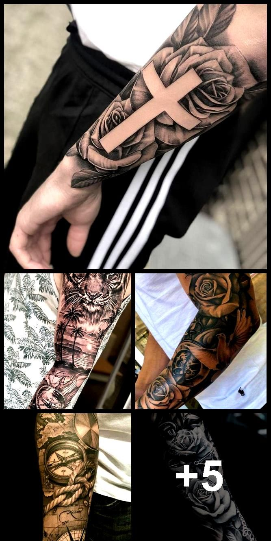 17+ Beste Ideen Tattoo Arm Ärmel Männer Rosen | Kol