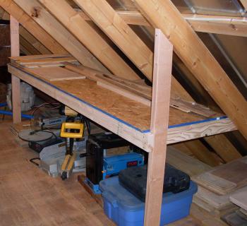 Shop attic remodel pinteres for Garage attic storage