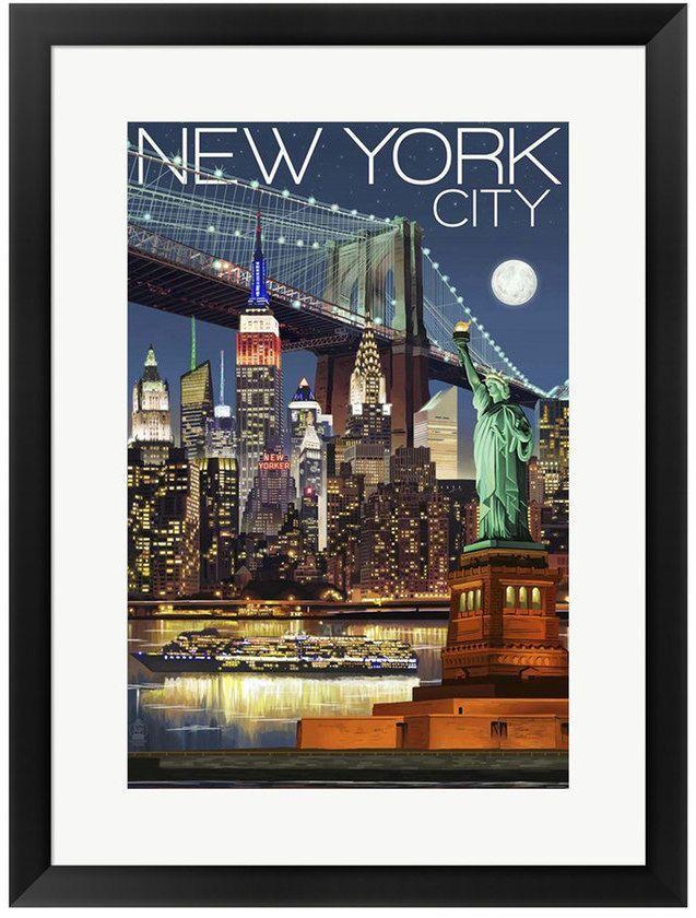 Metaverse Art New York City 1 Framed Wall Art   CARTELES   Pinterest ...