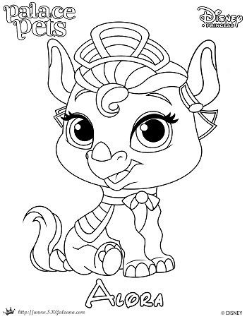 princess palace pet coloring page of alora