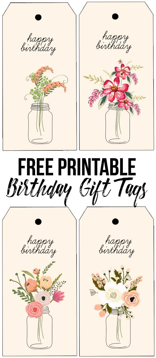 Darling and free printable birthday tags with beautiful florals darling and free printable birthday tags with beautiful florals httplivelaughrowe negle Choice Image