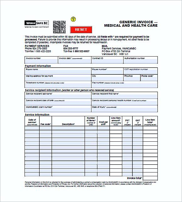 Medical Office Invoice Templates  Medical Invoice Template  The