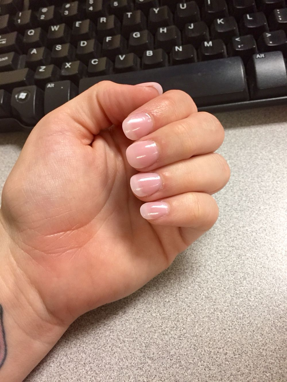 Natural looking round tip acrylic nail | Hair. Nails. | Pinterest ...